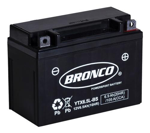 Bateria Moto Ytx6.5l-bs Bronco Gel Motoscba