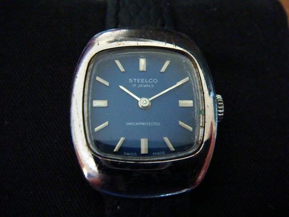 Reloj Steelco Para Dama Vintage 70s Swiss Made Carga Manual.