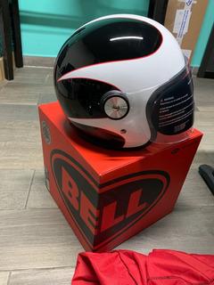 Casco Bell Riot White/black/red Boost Talla S