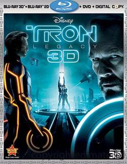 Blu-ray Tron Legacy / Tron El Legado 3d + 2d + Dvd