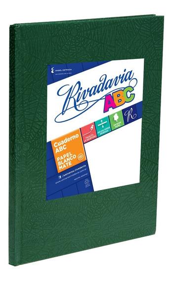 Cuaderno Rivadavia Abc Tapa Dura Verde X50 Hjs Cuadriculado