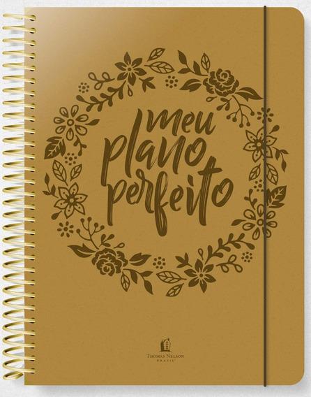 Agenda Planner Meu Plano Perfeito / Capa Dourada