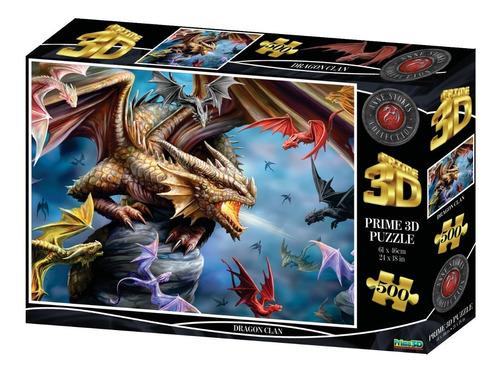 Puzzle Rompecabeza 500 Piezas Prime 3d Clan Dragón 10328