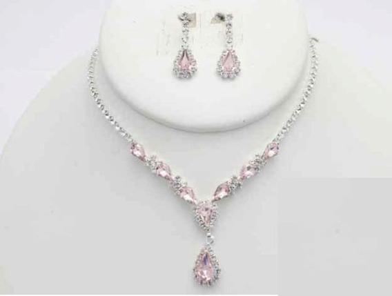 Collar Con Arete Love Pink Cafu405-11 A20