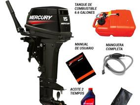 Motor Fuera De Borda Mercury 15 Hp 2t Super Pata Corta