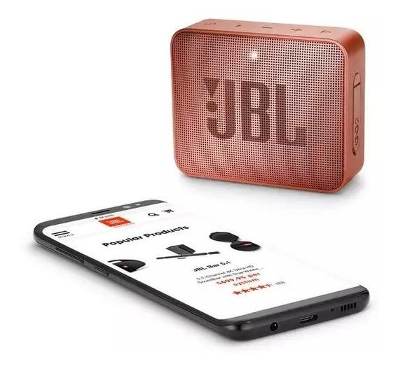Caixa De Som Bluetooth Jbl Go 2 Cinnamom À Prova Dágua