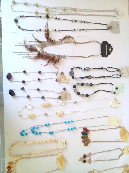Lote De 18 Collares De Fantasia Diversos Modelos Y Colores