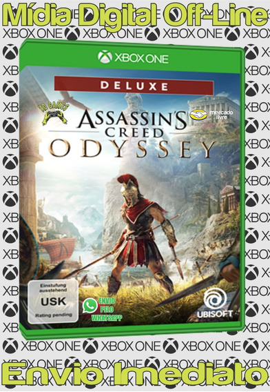 Assassins Creed Odyssey Ed. Deluxe Xbox One Mídia Off-line
