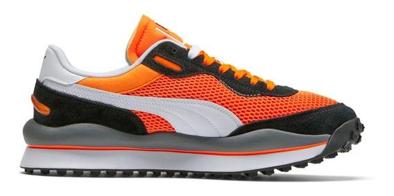 Tenis Hombre Puma Deportivos Style Rider Og Sneakers Naranja