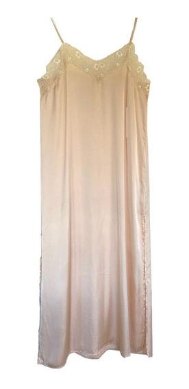 Vestido Mujer Tipo Enaguas Razo Rapsodia Encaje Natural Rosa