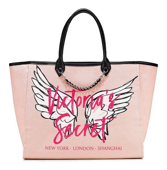 Bolsa Angel City Tote Pink/wings Original Victorias Secret