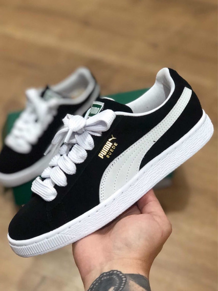 Puma Suede + Fat Lace