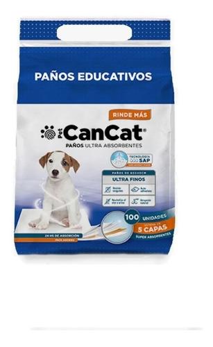 Paños Educativos Cancat 60x40 Cm P/perros 100 U Vet Juncal