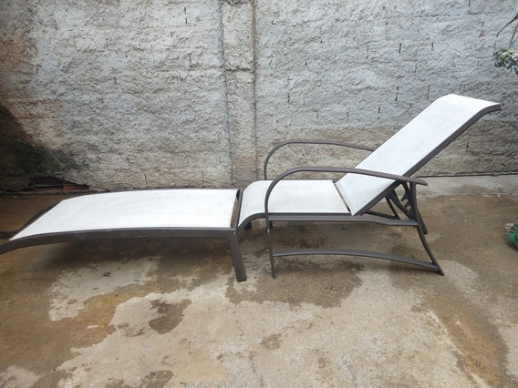 Espreguiçadeira Reclinável Cadeira Piscina Praia + Extensor