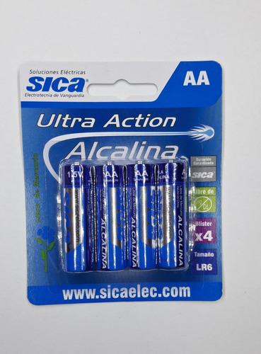 Pilas Aa Alcalinas 1,5v Blister X 4 Sica  No Recargable