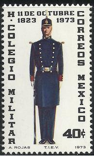 1973 150 Aniv Colegio Militar Sc 1051 Mnh Cadete Uniforme