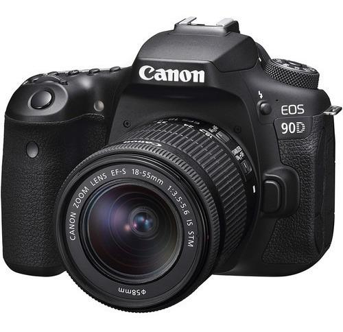 Câmera Canon 90d 32.5mp Kit 18-55mm Is Stm Nfe Prontaentrega