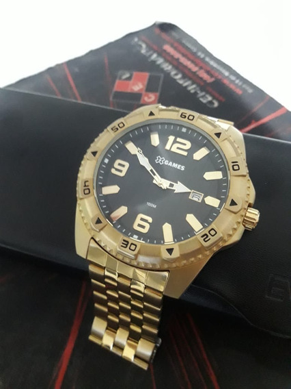 Relógio X-games Steel Series Xmgs1025 Dourado 54mm