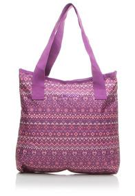 Bolsa Tote Girls Fashion Etnica Roxa Dmw - 48682