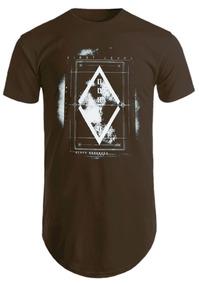 Blusas Masculinas Camisas Longline Camisetas Estampada First