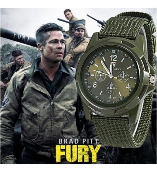 Relógio Masculino Gemius Army Filme Brad Pitt Fury + Caixa