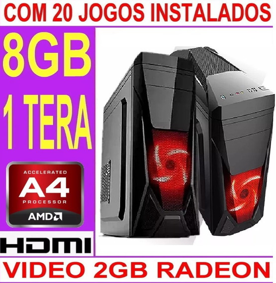 Cpu Gamer Barata Amd A4 6300 / 8gb / Hd 1 Tera / Geforce 2gb