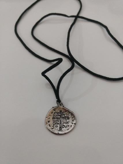 100 Colar Cordão Medalha Das Duas Cruzes
