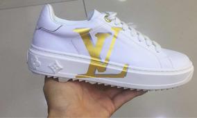 Promoção | Tênis Louis Vuitton Time Out Branco/branco 35br