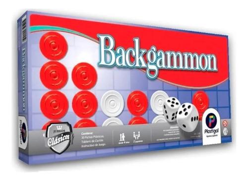 Juego De Mesa Backgammon Plastigal 155 By Creciendo