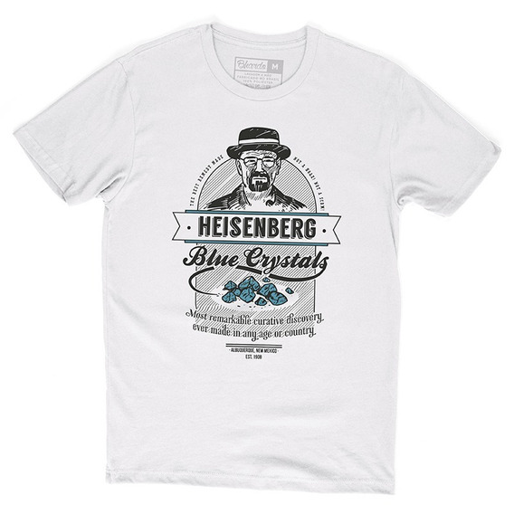 Camiseta Camisa Séries Breaking Bad Heisenberg Blue Crystals