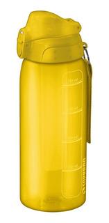 Garrafa Squeeze Amarela 750 Ml Com Tubo De Gelo Soprano