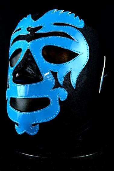Mano Negra 3 Mascara Lycra Semiprofesional Lucha Libre