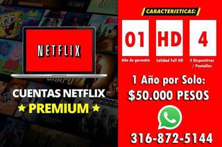 Oferta! Neftlix Cuente Premium Hd/4k.no Cae.