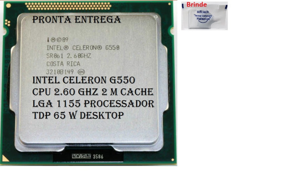 Processador 1155 Intel Celeron G550 2.60ghz Semi-novo