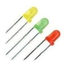 Led 5mm Difuso Amarelo / Verde / Vermelho 1000 Pçs De Cada