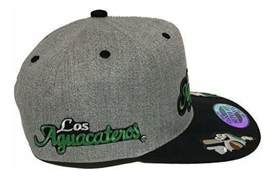 Los Aguacateros De Michoacan Sombrero 5 Logos Heather Gris N