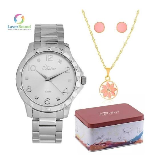 Relógio Condor Feminino Kit Co2035ksm/k3b, C/ Garantia E Nf