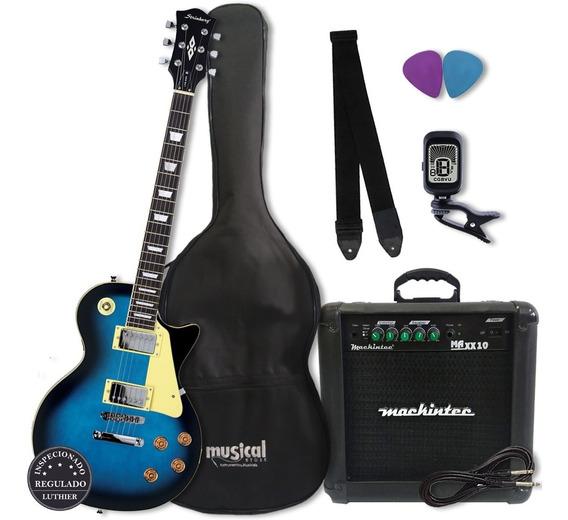 Kit Guitarra Strinberg Les Paul Lps 230 Bl Promoção!