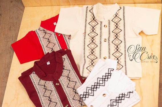 25 Camisas Mexicana / Guayaberas De Manta, De Niño / Chiapas