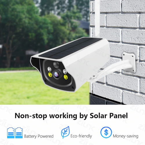 Cámara De Seguridad Solar Wifi 1080p Hd Batería Sin Cables