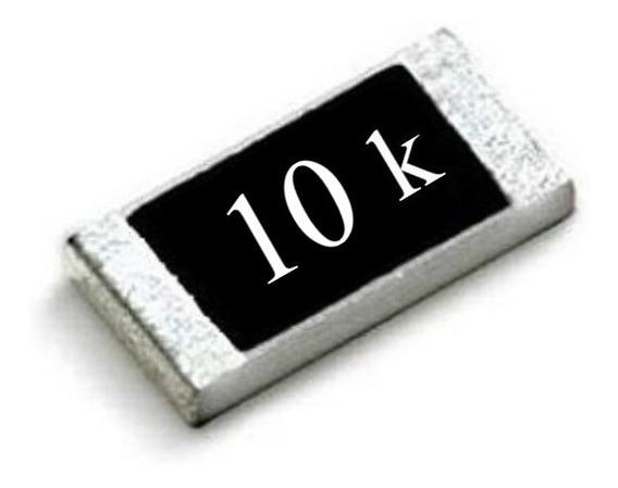 Resistor Smd 0603 ( Kit C/ 25 ) 10k Ohms 1% Panasonic (1,6mm X 0,8mm) 1/10w