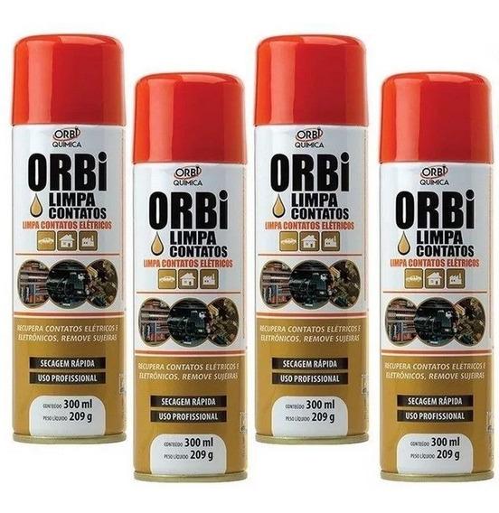 Kit 4 Spray Limpa Contatos Elétricos Orbi