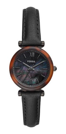Relógio Fossil Feminino Preto Couro Es4650/opn
