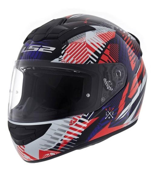 Casco Moto 352 Rookie Fire Rojo Punto Oficil Ls2 Devotobikes