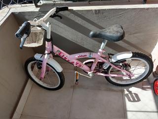 Bicicleta Nena Color Rosa- Poco Uso Y Buen Estado - Oferta