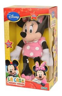 Peluche Luminoso De Minnie Mouse 44 Cm Original Disney