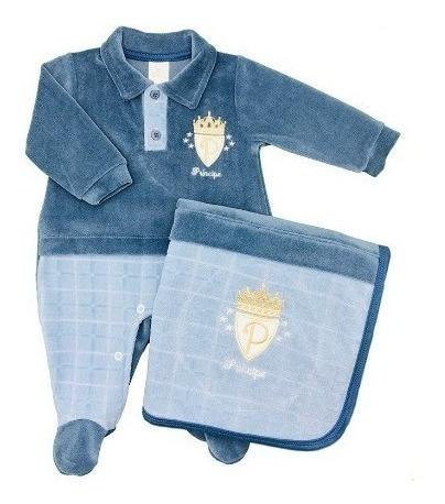 Saída De Maternidade Plush Presente De Anjo Príncipe Cód: 74