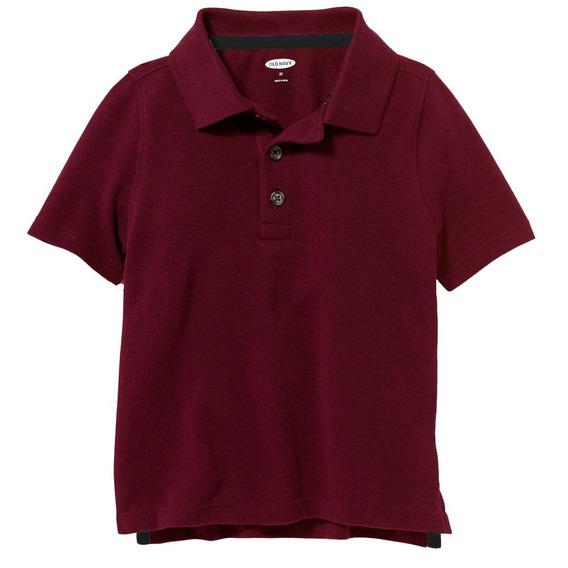 Camiseta Polo Vinho 2 Anos Ou 4 Anos Old Navy - Novo