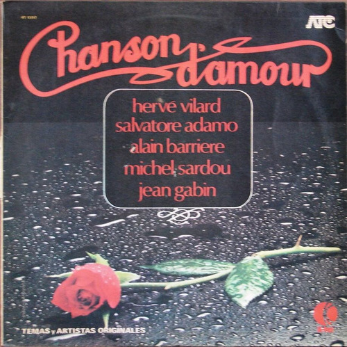 Varios - Chanson D´amour - Lp Año 1980 - Musica Francesa