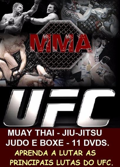 Curso De Jiu-jitsu Muay Thai Boxe E Judo Aulas Em 11 Dvds D3
